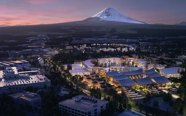 トヨタが静岡県で建設を計画するスマートシティー「ウーブン・シティ」