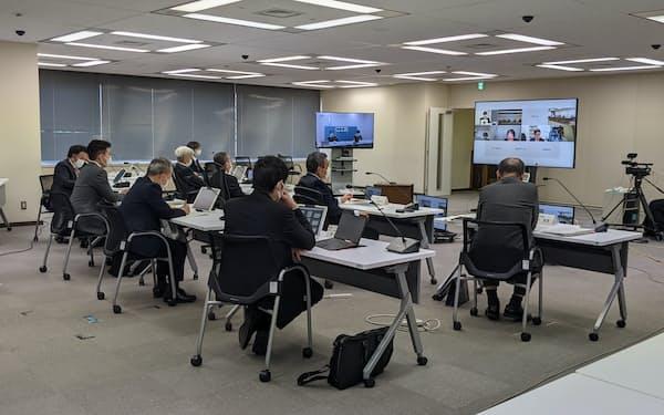 13日の地震への対応が議題になった原子力規制委の福島第1監視・評価検討会(22日、東京・港)