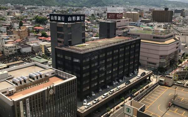 支店の営業体制を変更する山形銀行(山形市)