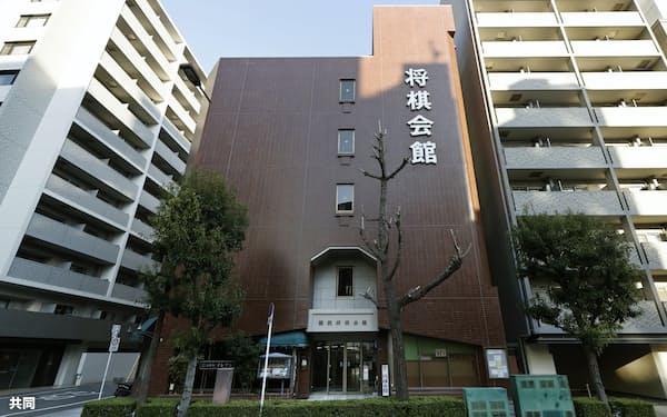 関西将棋会館(22日午後、大阪市)=共同