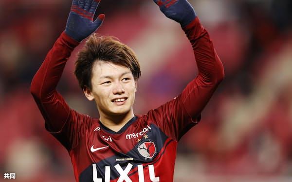 今季でプロ3年目。体もたくましくなった上田は東京五輪のエース候補だ=共同