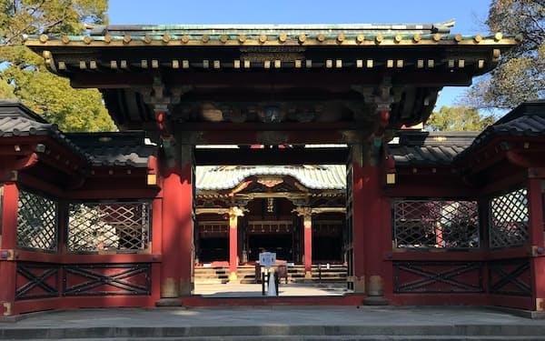 須佐之男命を祭る根津神社は1900年余前、日本武尊が創建したと伝えられる(東京・文京)