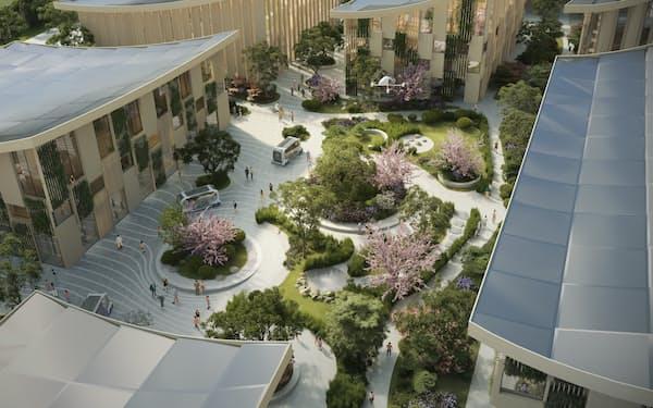 実証都市「ウーブン・シティ」の完成イメージ図