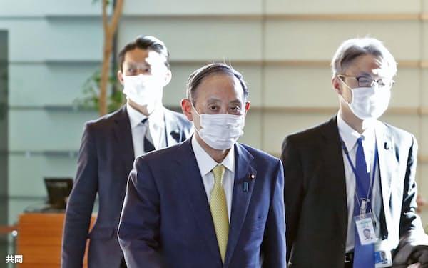 菅首相は新型コロナ対応をめぐり関係閣僚と協議した