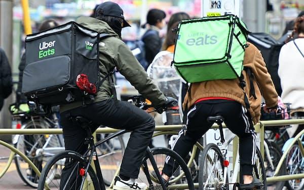 ウーバーイーツは東京や大阪など33都道府県に進出している
