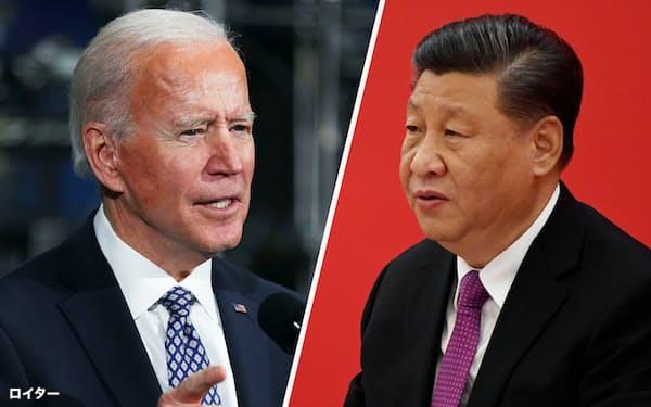 バイデン米大統領(写真左)と中国の習近平国家主席=いずれもロイター