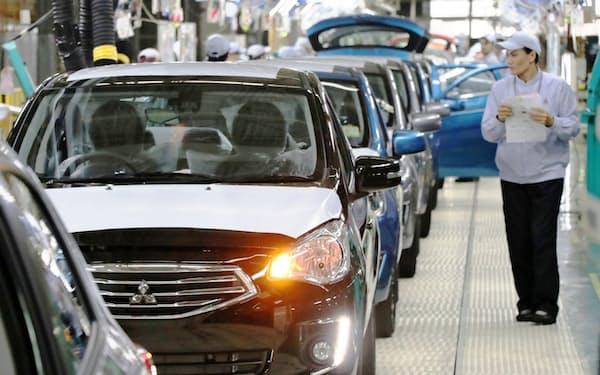 小型車を生産するタイの三菱自動車の工場(年6月4日撮影、タイ中部チョンブリ県)