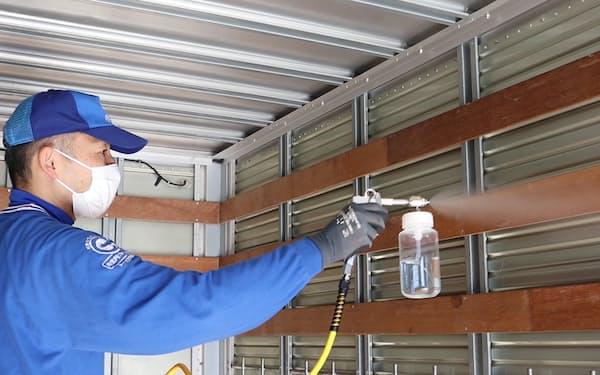 最大手のサカイ引越センターは引っ越し用トラックに抗菌・抗ウイルス加工を施す