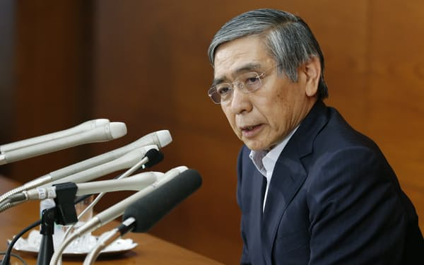 日銀は3月の政策決定会合でETF購入など政策運営の「点検」を公表する(黒田東彦総裁)