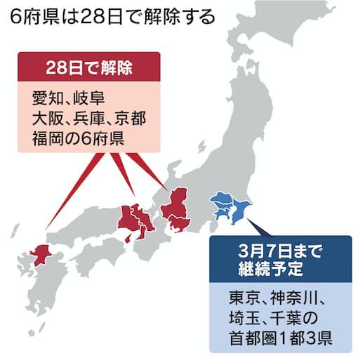 新型コロナ: 首都圏除く6府県、28日で緊急事態宣言解除を決定: 日本 ...