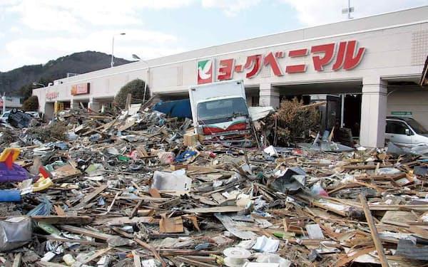 4メートル超の津波に襲われた湊鹿妻店では、屋上駐車場に住民を避難させて500人の命を守った(提供:ヨークベニマル)