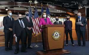 米下院は26日中に1・9兆ドルの財政出動法案を可決し、週明けに上院に送付する=AP