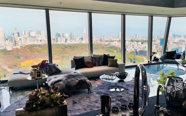 渋谷区役所の建て替えに伴い開発された「パークコート渋谷 ザ タワー」の眺望は希少だ