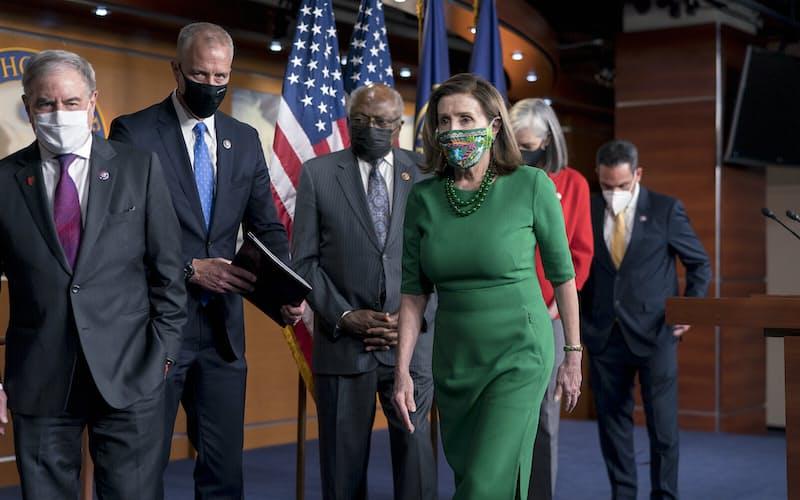 米下院は民主党単独で1・9兆ドルの経済対策を可決した=AP