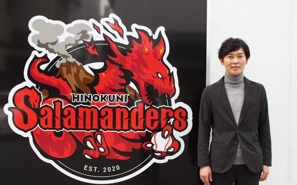 火の国サラマンダーズを熊本の公共財にしたいと語る神田康範社長(熊本市)