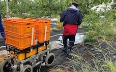 割安テックで農産地支援 サントリー、作業員追うロボ