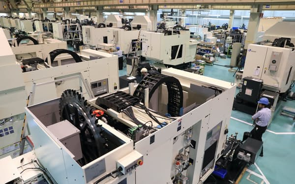 工作機械の組み立てライン
