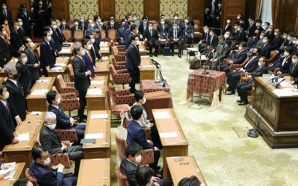 与党などの賛成多数で21年度予算案を可決した衆院予算委(2日午後)