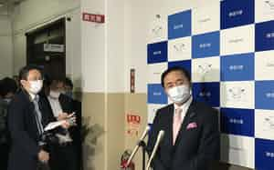 神奈川県の黒岩祐治知事は首相による宣言延長の表明を受け「残念だ」と述べた(3日、県庁)