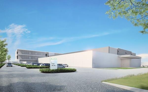 JCRファーマが神戸市に建設する新工場の完成イメージ