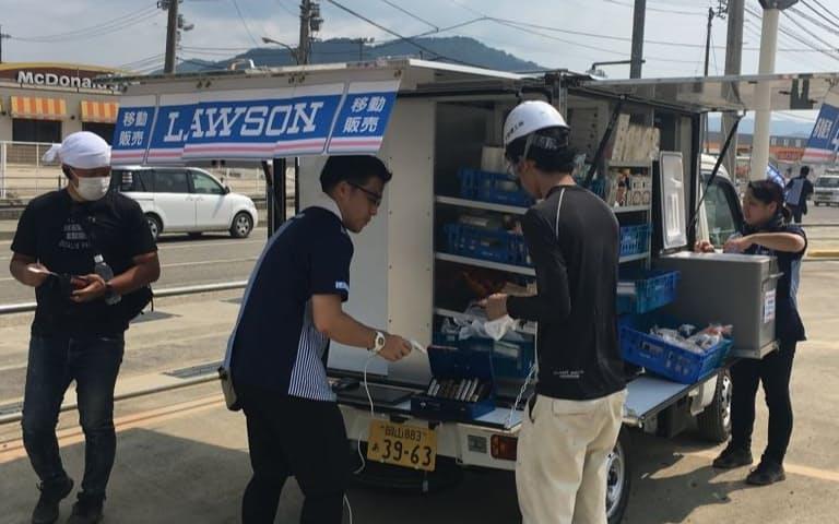 ローソンは災害対応で移動販売車を用意するようになった