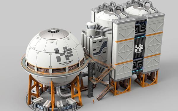 核融合炉の模型