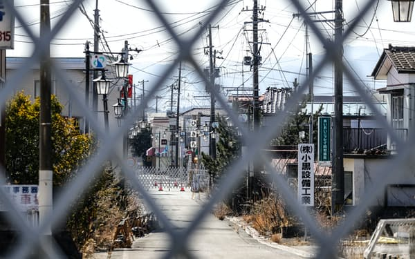 帰還困難区域が残る福島県大熊町(2月)