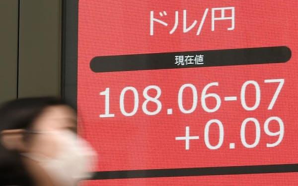 ドルの先高観が強まってきた(5日、東京都中央区)