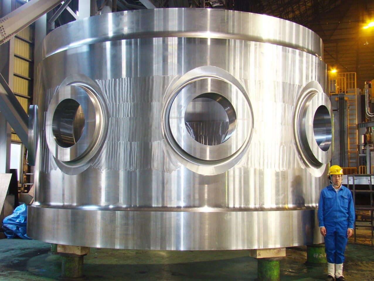 日本製鋼所M&Eでは圧力容器に使う巨大な鋳鍛鋼製品などを手掛けてきた