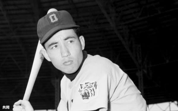現役時代の三宅秀史さん(1959年2月)=共同