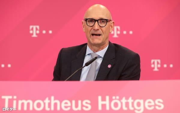 ドイツテレコムのヘットゲスCEO(2020年2月、ボン)=ロイター