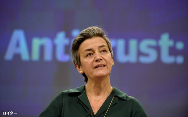 バルブ社などへの処分について、欧州委のベステアー上級副委員長は「国境をまたいだ販売を制限する行為は、消費者から欧州というデジタル単一市場の便益を奪うものだ」と述べた=ロイター