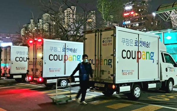 クーパンは韓国内に100カ所以上の物流センターを自前で整備して配送スピードを高めている(ソウル市内の配送センター)