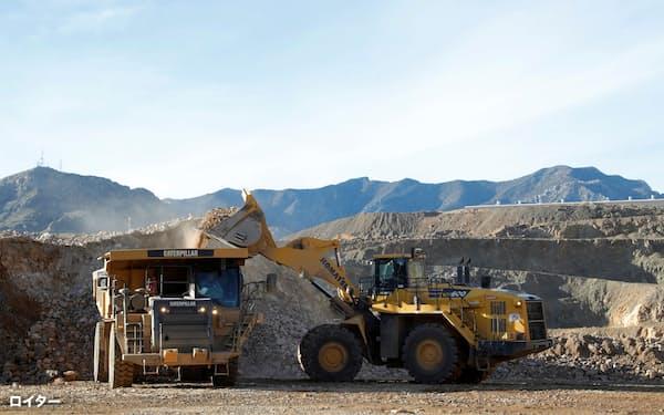 米国のマウンテン・パス鉱山ではレアアースの採掘が進む(カリフォルニア州)=ロイター