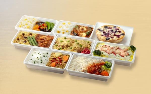 洋食や中華、カレーなど世界各国の機内食をセットで販売する