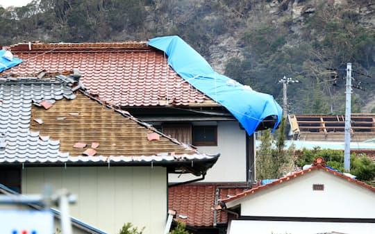 2019年の台風15号では住宅被害が多かった(千葉県南房総市)