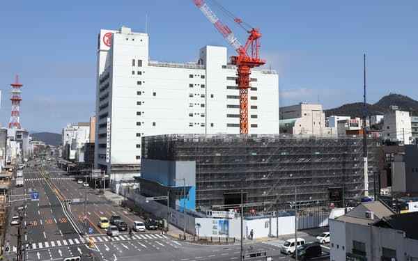 岐阜駅北側はマンションの建設ラッシュが進む
