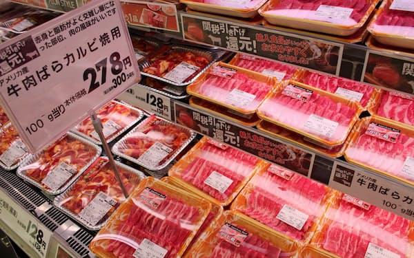 米国産牛肉は輸入量の増加によりセーフガード(緊急輸入制限)を発動する見通しに