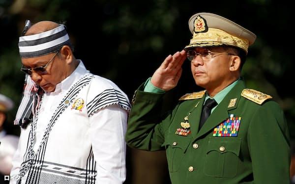 ミャンマー国軍は資金面で反国軍の動きを弱体化させる狙いとみられる(ミン・アウン・フライン国軍総司令官)=ロイター