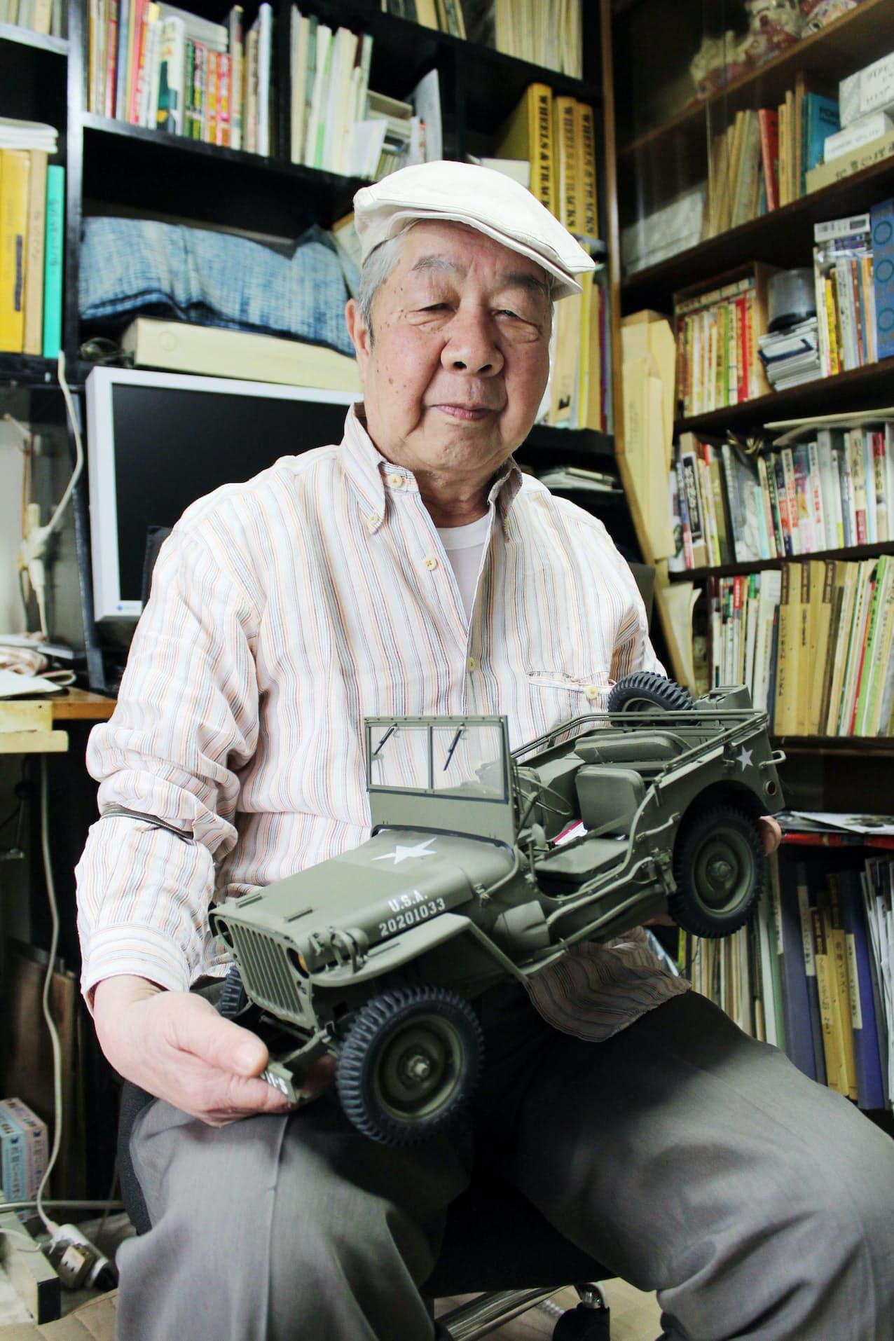 車両への造詣が深く、アニメ作品にも多く登場させた大塚康生さん(タミヤ提供)