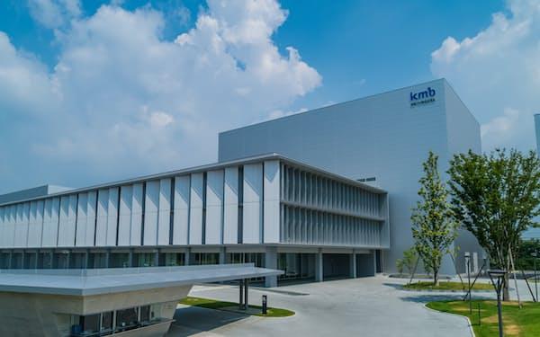 ワクチンの製剤化を行うKMバイオロジクスの合志事業所(熊本県合志市)