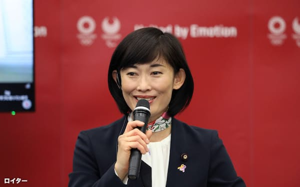 Japanese Olympics Minister Tamayo Marukawa speaks during the five-party meeting at the Tokyo 2020 headquarters in Tokyo, Japan March 3, 2021. Du Xiaoyi/Pool via REUTERS