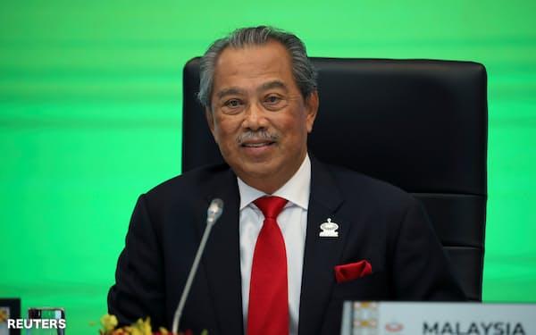 マレーシアのムヒディン首相はミャンマー国軍への批判のトーンを強めている=ロイター