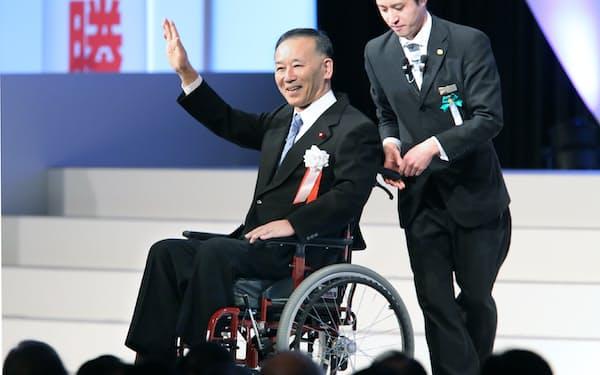 2019年の自民党大会でスピーチに臨む谷垣氏(東京都港区)