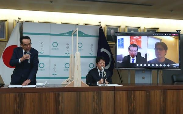 前橋市はスーパーシティ計画で多くの企業との連携を発表した(2月、同市)