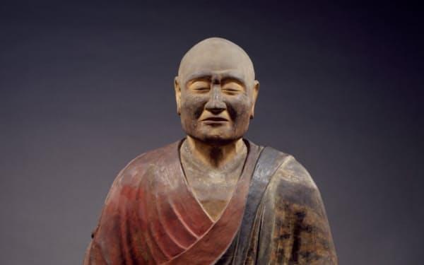国宝「鑑真和上坐像」(奈良時代=8世紀、乾漆造彩色、像高80.1㌢、唐招提寺蔵)=金井杜道撮影