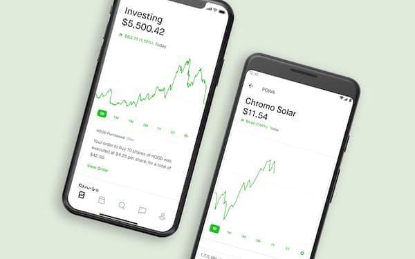 ロビンフッド・マーケッツが提供する取引無料のアプリを使って投資する人が多いことから「ロビンフッダー」と呼ばれる投資初心者たち。彼らの影響力が米株式市場などで強まっている