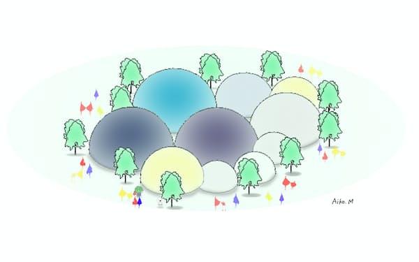 関西広域連合のパビリオンのイメージ(関西広域連合提供)