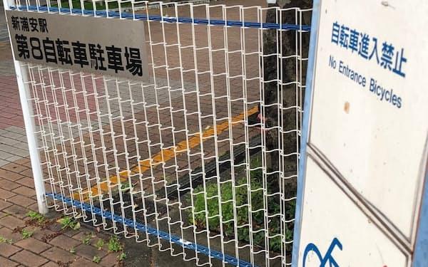 「入り口自転車なし」と英語では意味をなさない看板表記(千葉県浦安市)