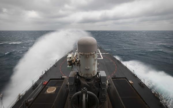 米台は連携し、台湾周辺海域での沿岸警備を強化する=AP